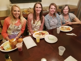 Sisters and mom enjoying their feast in CO - wishing I could've joined them!