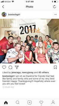 Thanksgiving at Destiny's house! So sad to have missed it.