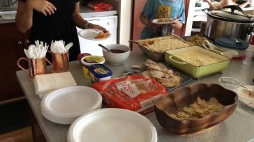 Thanksgiving dinner at Destiny's house.