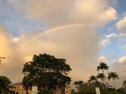 Sunset rainbow.