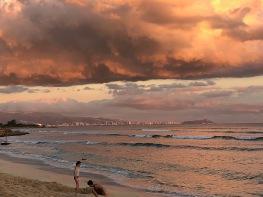 Gorgeous sunset looking at Honolulu/Waikiki and Diamondhead.