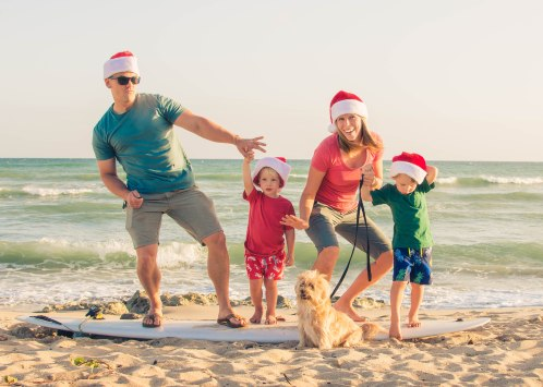This year's Christmas card - back side.
